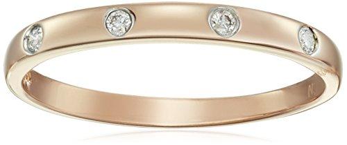 I2 Shaft - 10k Rose Gold Diamond Accent Band, Size 6