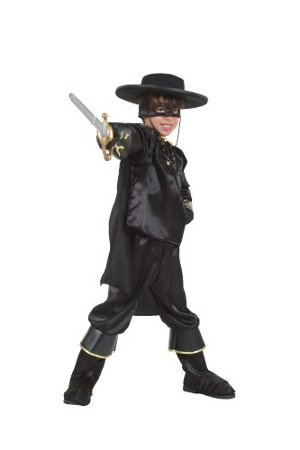 Cesar O858-005 Zorro Fancy Dress Costume 5-7 Years Black