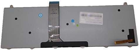 Laptop Keyboard for CLEVO P157SM P177SM V132150BK3 Nordic NE with Black Frame and Backlit