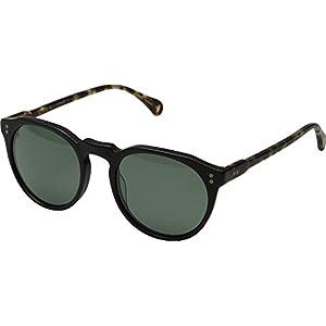 Raen Remmy 49 Polarized Round Sunglasses, Matte Brindle Tortoise, 49 mm