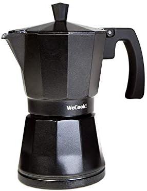 Wecook Cafetera aluminio LUCCIA apta inducción, 12 tazas, Acero ...