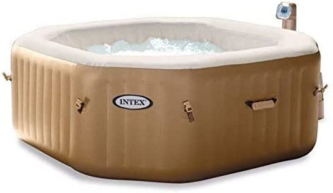 Intex Octagonal Pure Spa 4 Person Bubble Therapy Hot Tub Amazon