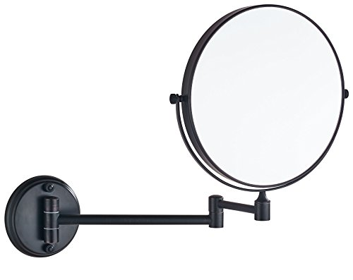 Cavoli Oil Rubbed Bronze Wall Mounted Mirror with 10x Magnification for Bathroom& - Foam Shaving Bathroom Mirrors
