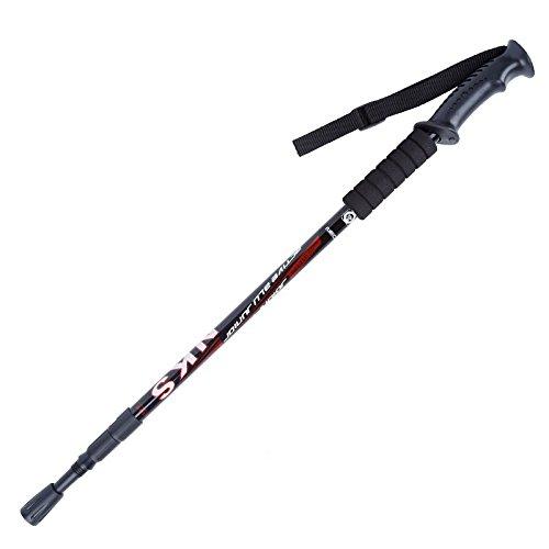 GLASEA® Antishock With Handle Trekking Walking Hiking Stick Pole