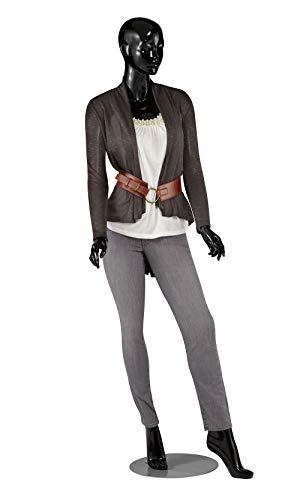 Female Glossy Black Cameo Fiberglass Mannequin - Height 5'10