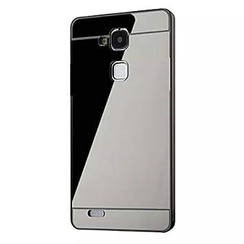 Vandot Móvil Celular Aluminio Protector Carcasa y Funda Chic para HuaWei Ascend Mate 7 PC Caso Manga Tapa Protección Original PC Hard Metal Bumper ...