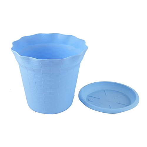 fiore ufficio giardino 5 diametro da arredamento Casa impianto Fioriera Vaso di 16 Viola Blue plastica di cm sourcingmap® qYORw