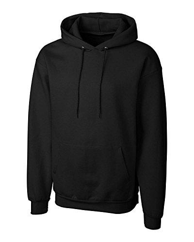 Black S/s Hoodie (Cutter & Buck MRK02001 Mens Clique Basics Flc P/O Hoodie S-Xxl, Jet Black-S)