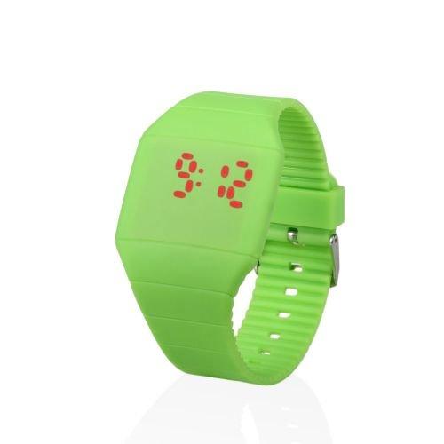 Reloj digital LED TOUCH de silicona VERDE Verde: flashselection: Amazon.es: Relojes