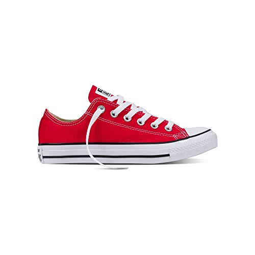 (Converse Womens All Star Ii Ox Low Top Lace Up Fashion Sneakers, Red, Size 7.5)