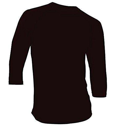 (DREAM USA Men's Casual 3/4 Sleeve Baseball Tshirt Raglan Jersey Shirt Black/Black XL)