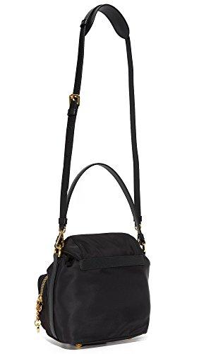 Moschino borsa donna a mano shopping in nylon nuova nero