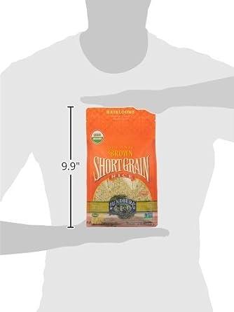 Lundberg corto grano café Arroz Orgánico, 32 onzas: Amazon ...