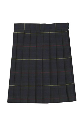French Toast Big Girls' Plaid Pleated Skirt, Green, (Girls Green Plaid Skirts)