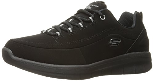Skechers Sport Women's S Ynergy 2.0-Side-Step Fashion Sneaker, Black, 7 M US -
