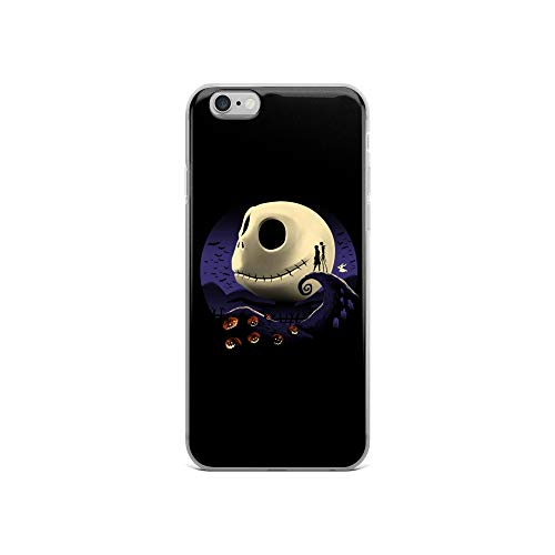 iPhone 6/6s Case Anti-Scratch Motion Picture Transparent Cases Cover Pumpkins and Nightmares Classic Movies Video Film Crystal Clear]()