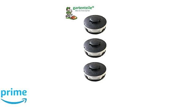 3 bobinas de rosca doble, de repuesto, para recortadoras eléctricas de hierba, adecuada para Aldi Top Craft, King Craft, Einhell RTV, Gardenline GLR GLT, ...