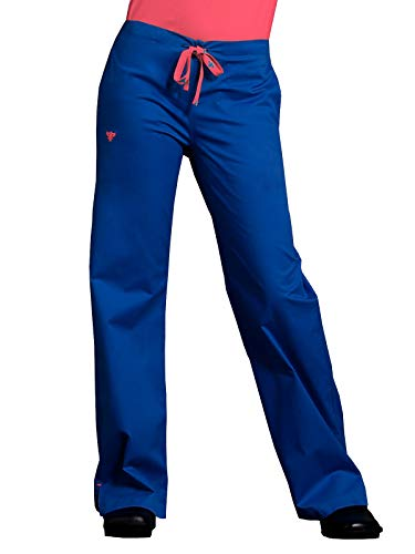 Med Couture Women's Signature Drawstring Pant (Royal/Passion Pink - X-Large) - Signature Drawstring Pants