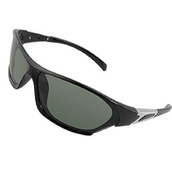Rect?ngulo lente verde Full Frame gafas de sol polarizadas para hombres