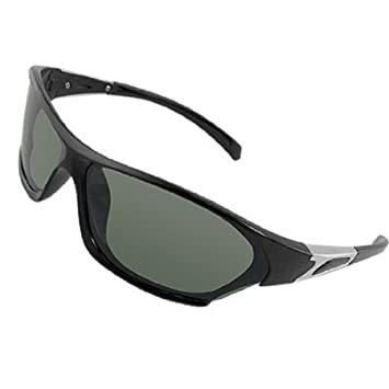 Amazon.com : Rect?ngulo lente verde Full Frame gafas de sol ...