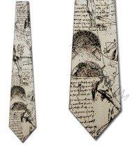 Da Vinci Sketch 2 tie Mens Necktie