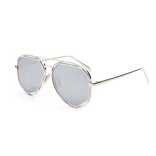 Aviator Vintage Womens Polarized Sunglasses Retro Eyewear (White) - 8