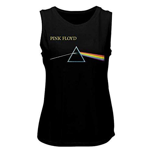 Pink Floyd 1965 English Rock Band Music Group Prism Rainbow Logo Ladies Tank Top