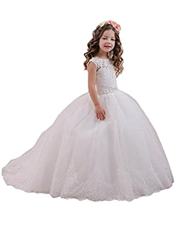 Mariah A Line Flower Girl Dress Lace First