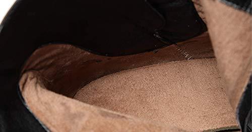 Shiney Fermeture Bottes Talons Pointues En Femmes Pour Black Cuir Hauts Hauts À Hiver Bottines Glissière Latérale Martin rpxwCOqAr