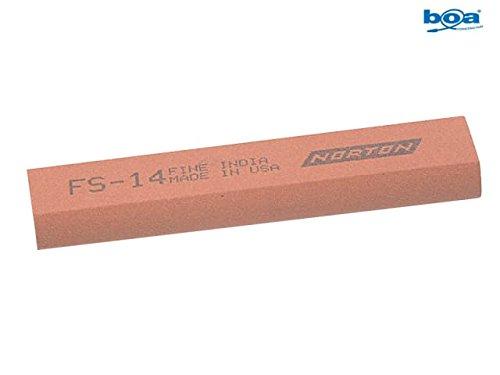 India FS44 Round Edge Slipstone 115 x 45 x 13 x 5mm - Fine