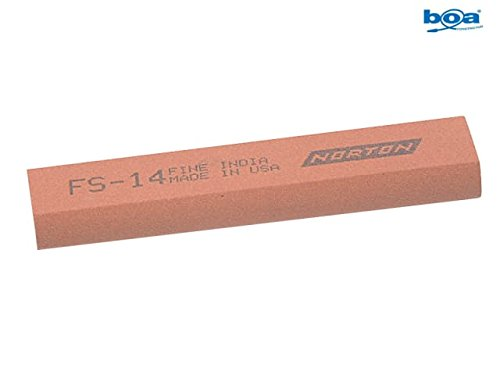 India FS44 Round Edge Slipstone 115 x 45 x 13 x 5mm - Fine by India