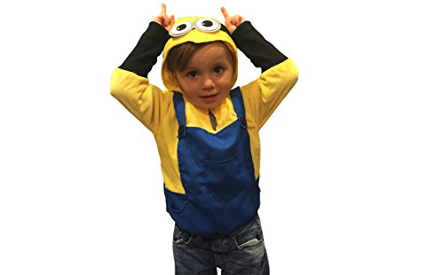 [Halloween Costumes Kids Minion Costume Boys Sweatshirt Halloween Costume (2-4yr)] (Costume Minions)