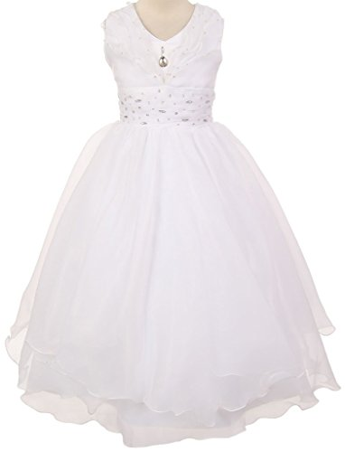 BNY Corner First Communion Wedding Pageant Flower Girl Dress Ivory & White Collection