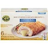Barber Foods Cordon Bleu Raw Stuffed Chicken Breast, 5 Ounce - 6 per pack - 4 packs per case.