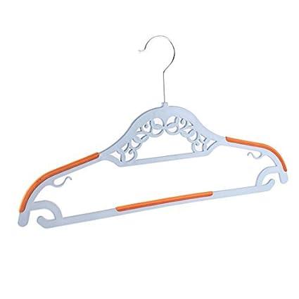 eDealMax Metal ahueca hacia fuera la ropa Abrigos Perchas de gancho Tendedero Gris Naranja