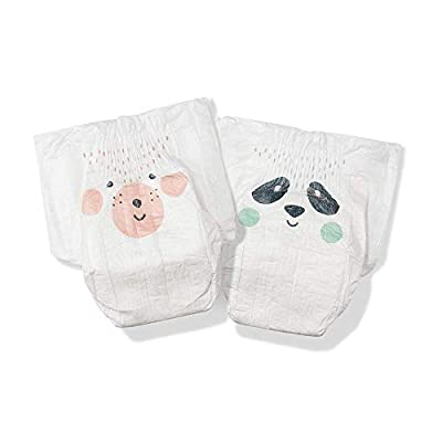 Kit & Kin Eco-Diapers*, 1-Month Supply (Size 1, 240 Disposable Diapers, 40 x 6 Packs, Panda & Bear) ...