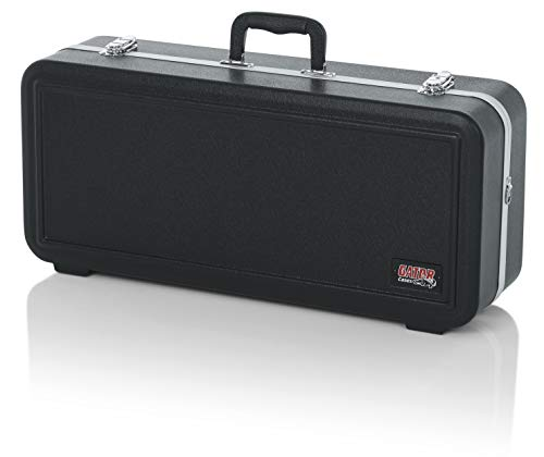 Gator Cases Lightweight Molded Alto Saxophone Case with Locking Latch and Plush Lined Interior; Rectanglular/Stackable (GC-ALTO-RECT)