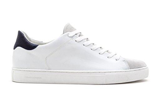 LONDON dettagli art bianco camoscio scarpa blu uomo 11209S17B pelle CRIME Iq4dI