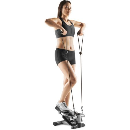 NordicTrack Mini Stepper 2 Bungee Resistance Cords with Soft Grip Handles to Track steps, Calories and Time with The Built in Electronic Meter