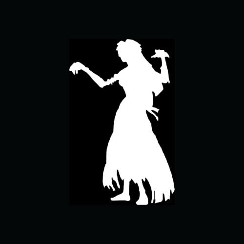 GIRL ZOMBIE Sticker Hot Sexy Chick Mom Dead Woman Vinyl Decal Walking Brains S5 - Die cut vinyl decal for windows, cars, trucks, tool boxes, laptops, MacBook - virtually any hard, smooth surface -