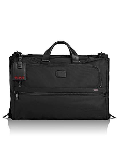 Alpha 2 Tri-Fold Carry-On Garment Bag - Dress or Suit Bag for Men and Women - Black