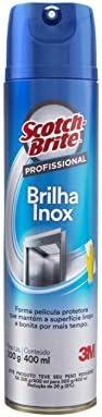 Spray Brilha Inox Scotch-Brite 3M Limpeza Profissional - 400 ml