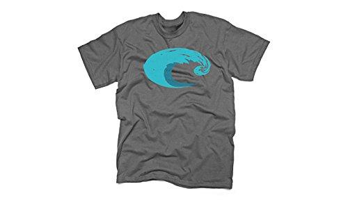 Costa Del Mar Logo Wave T-Shirt - Charcoal - - Costa Sunglasses Logo