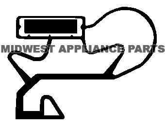 Whirlpool 2188456A Freezer Door Gasket ()