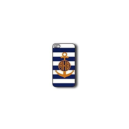 Krezy Case Monogram iPhone 5s Case, blue stripes with Anchor Monogram iPhone 5s Case, Monogram iPhone 5s Case,...