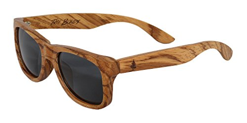 The Bondi by Spruce - Polarized Zebra Wood Floating Sunglasses - Wayfarer - Glass Bondi