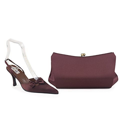 FARFALLA Luxury Matching Shoes and Bag Brown