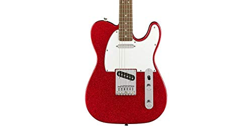 Guitar Red Electric Sparkle (Squier Limited Edition Bullet Telecaster Electric Guitar (Red Sparkle))