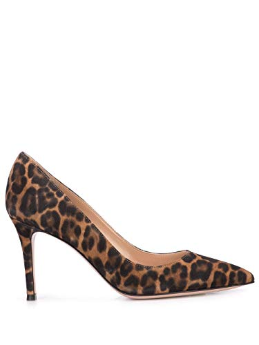 Gianvito Rossi Women's G2458085riccmdallp Brown Suede Pumps ()