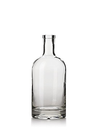 Nakpunar-25-oz-Heavy-Base-Glass-Liquor-Bottle-with-T-Top-Synthetic-Cork-with-Bonus-Regular-Bottle-Cork